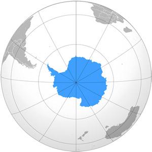 Антарктида - мапа