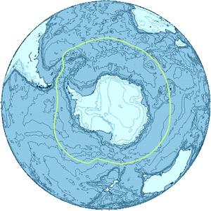 Антарктика - мапа