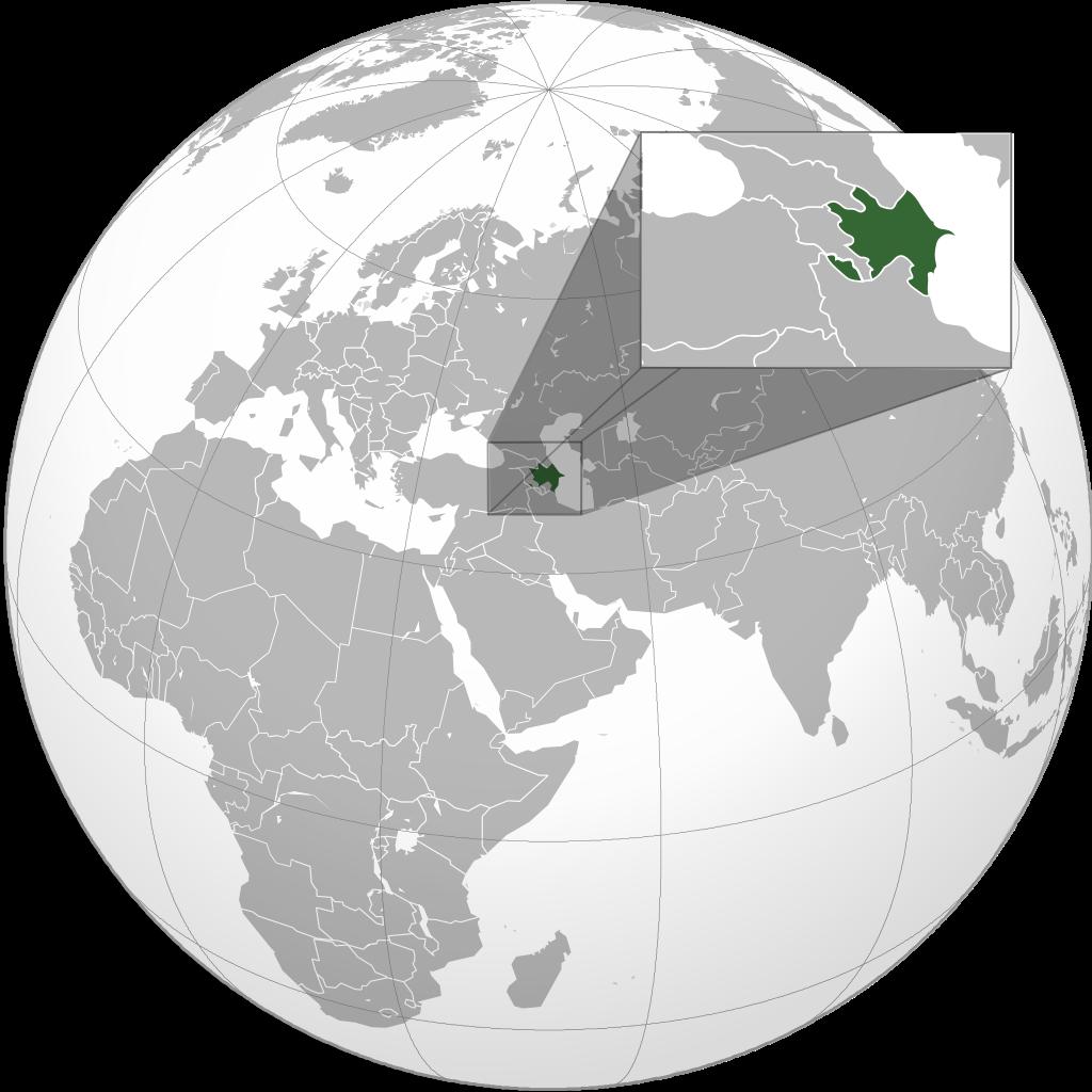 Азербайджан на мапі Землі