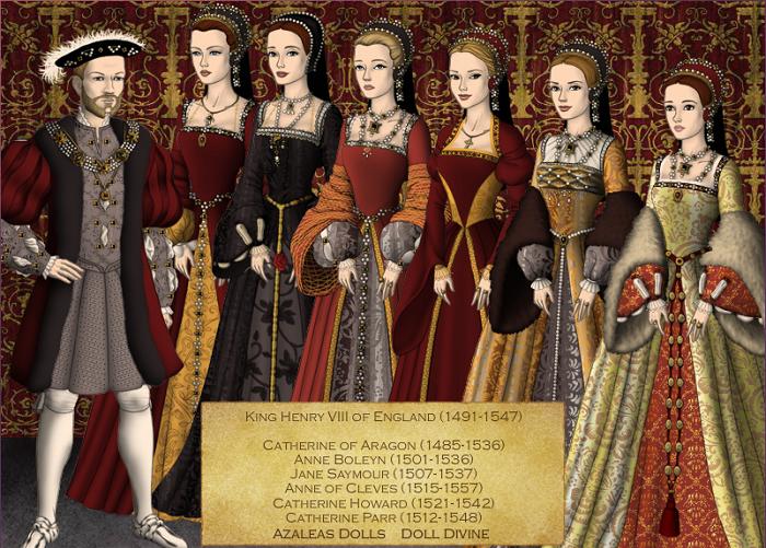 Генріх Воьмий і його дружини
