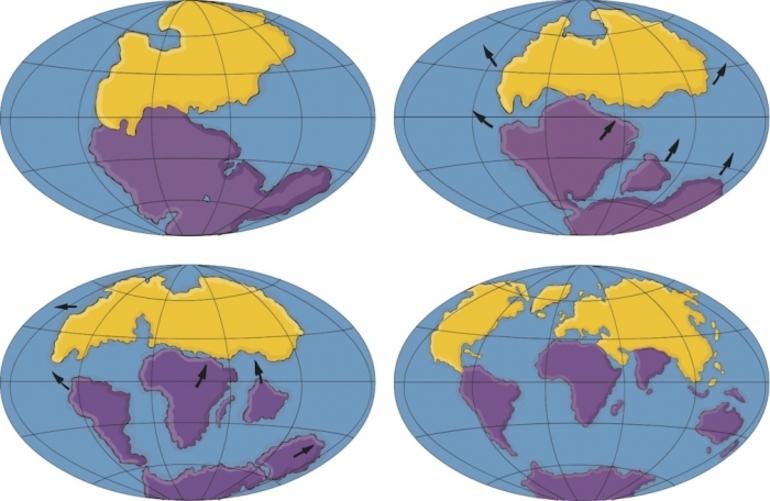 Гіпотези розлому великого континенту - Пангеї