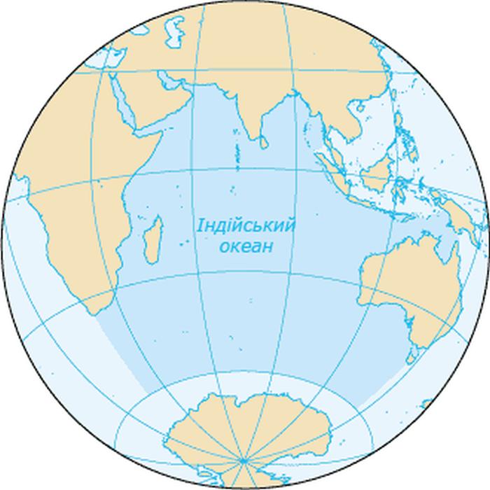 Індійський океан - карта