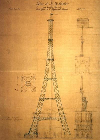 Креслення Ейфелевої вежі