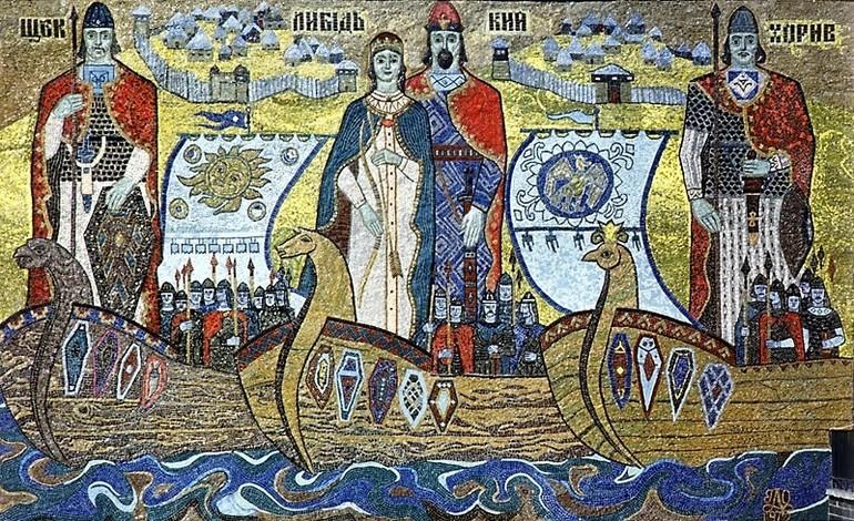 Кий, Щек, Хорив - фреска