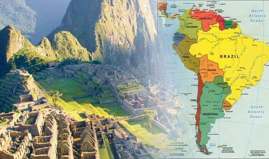 Латинська Америка - мапа