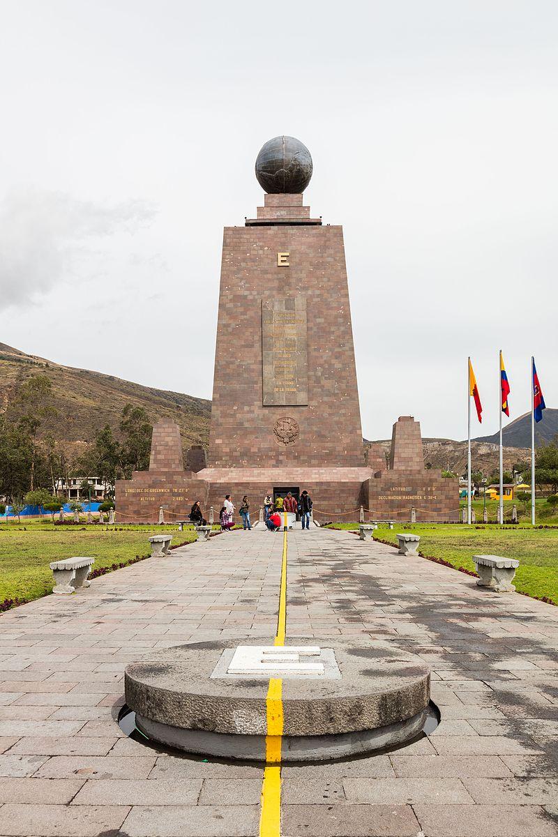Лінія екватора у місті Кіто