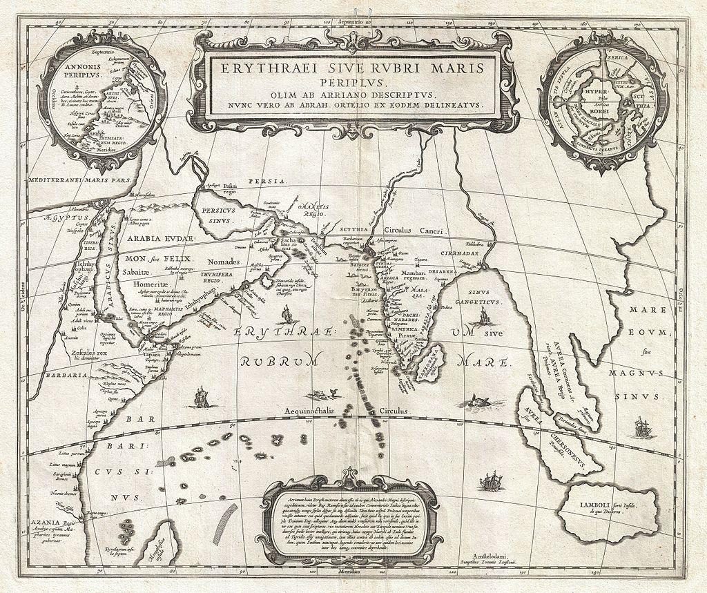 Мапа Індійського океану 17-го століття