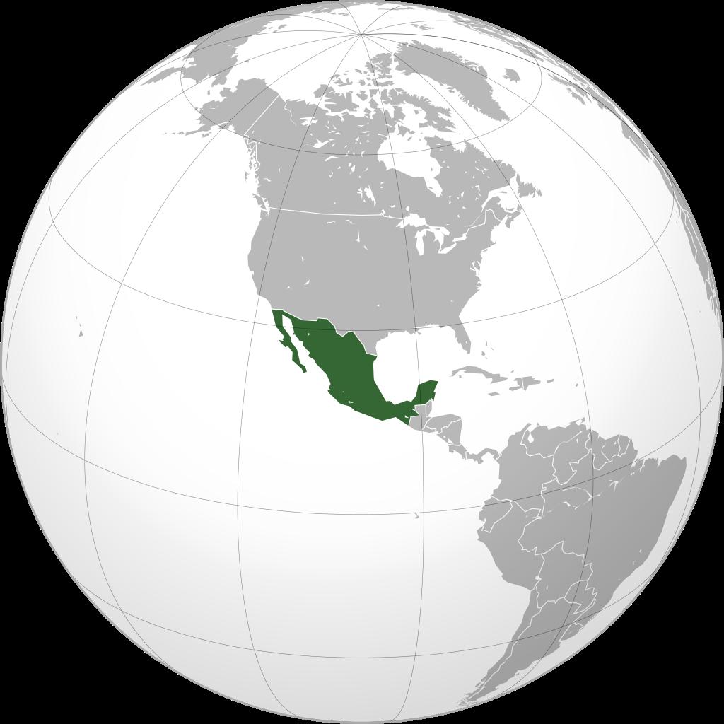 Мексика на глобусі