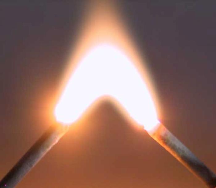 Електрична дуга забезпечує наочну демонстрацію електричного струму