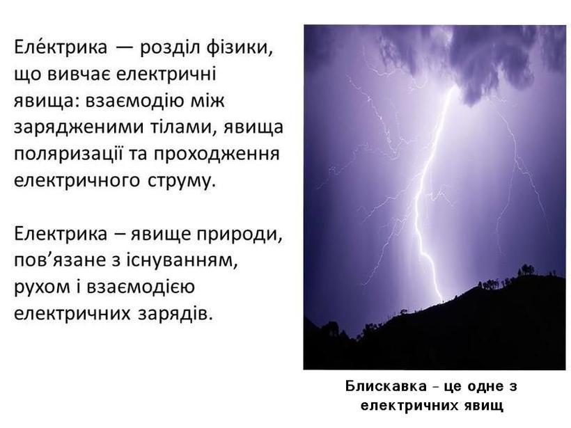 Електрика - визначення