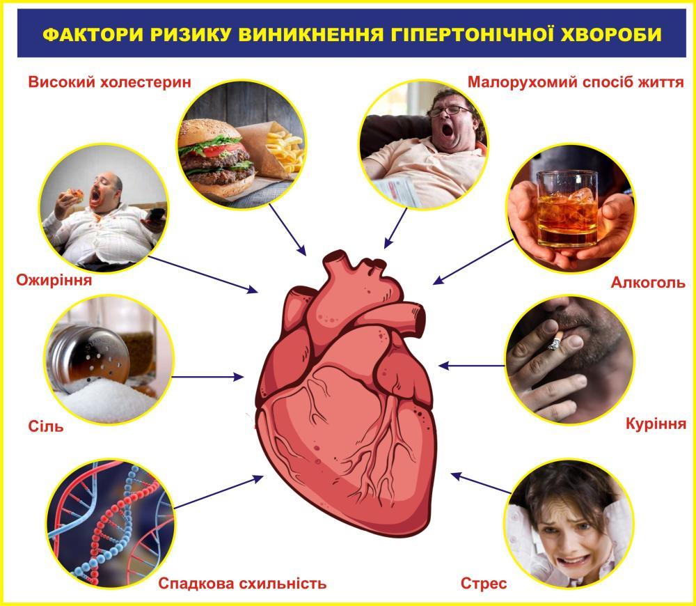 Фактори ризику виникнення гіпертонічної хвороби