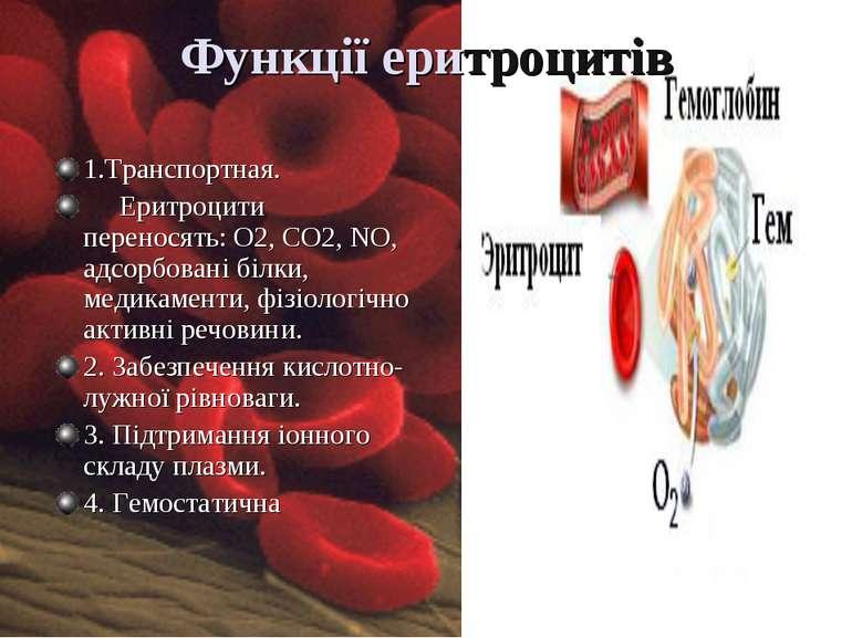 Функції еритроцитів
