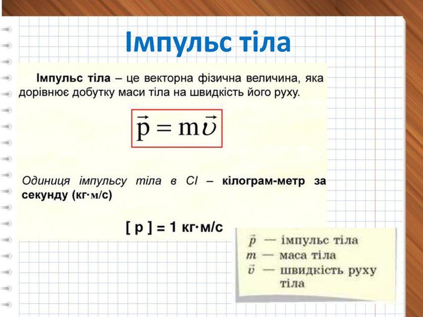 Імпульс тіла - визначення і формула