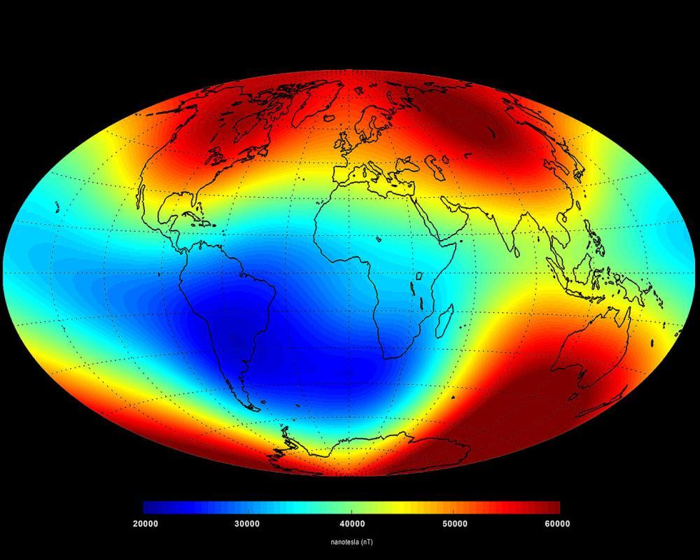 Магнітне поле Землі, 2014 рік