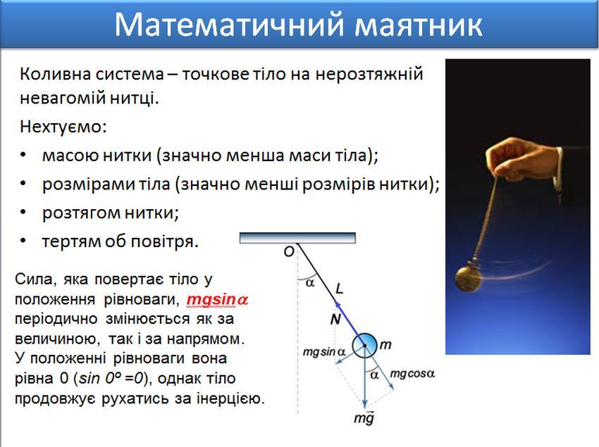 Математичний маятник - визначення