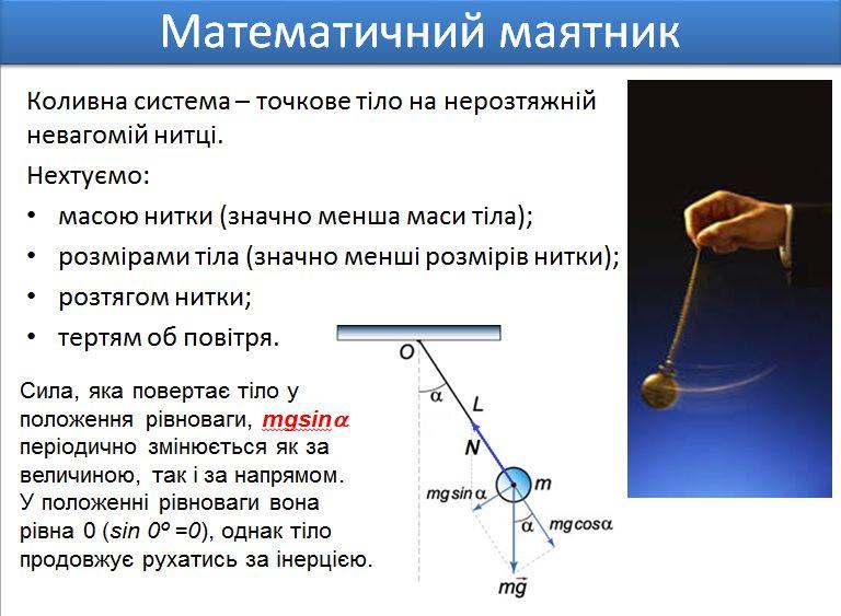 Математичний маятник - визначення2