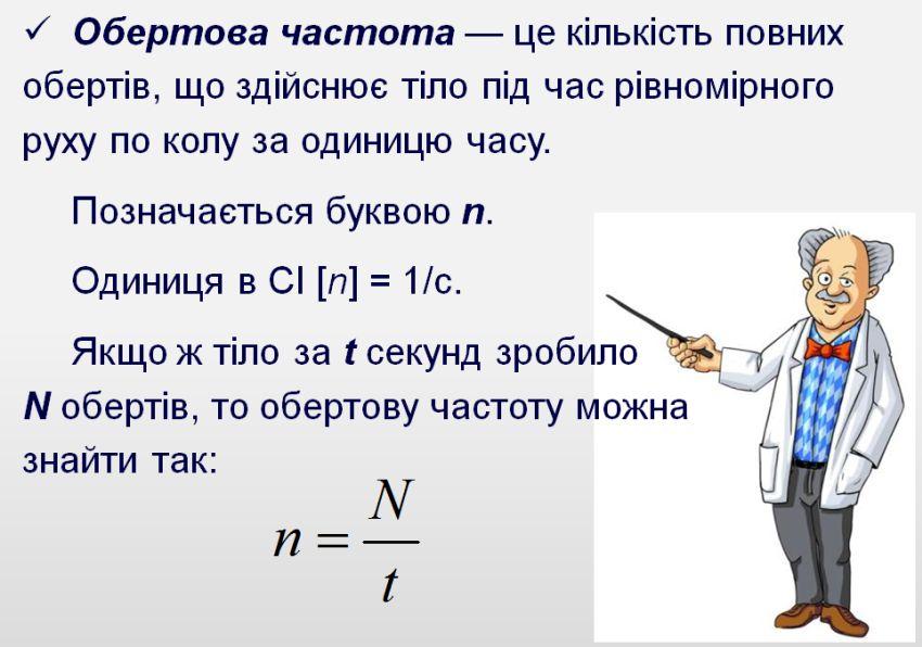 Обертова частота - визначення