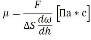 Одиниця виміру коефіцієнта в'язкості