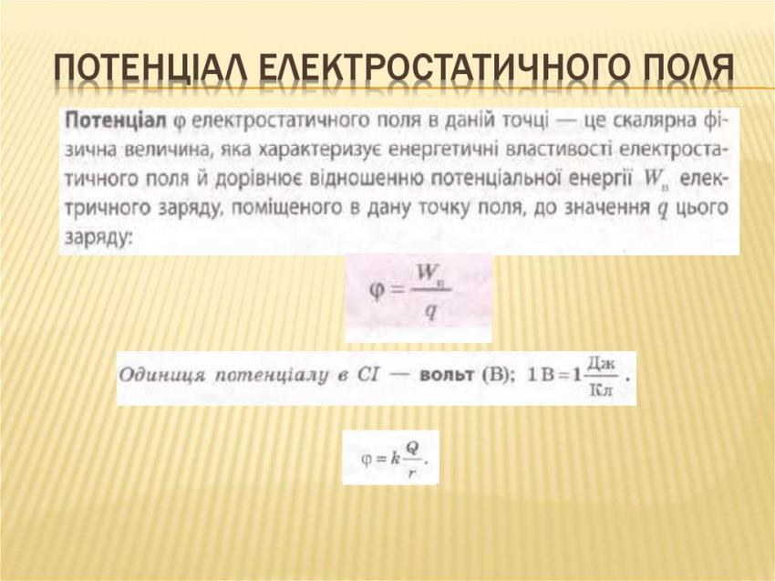 Потенціал електричного поля - визначення
