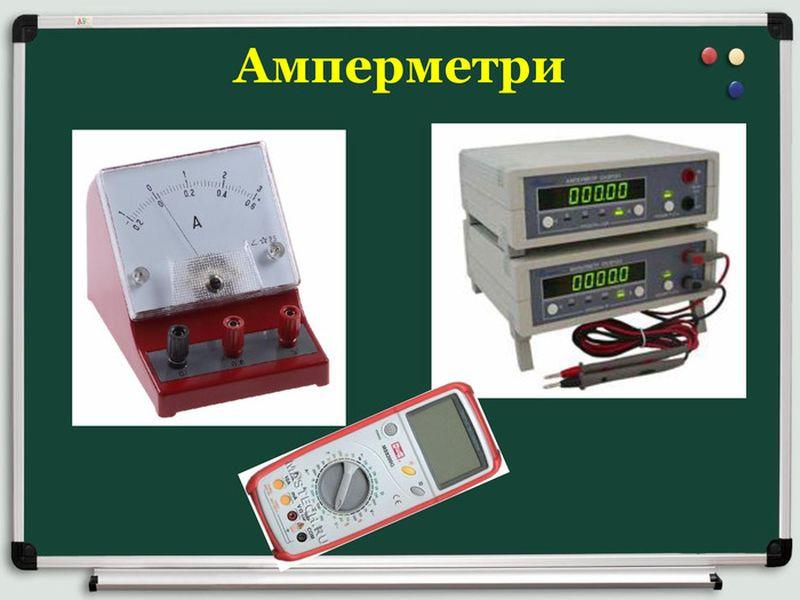 Приклади амперметрів