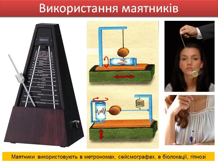 Приклади використання маятників