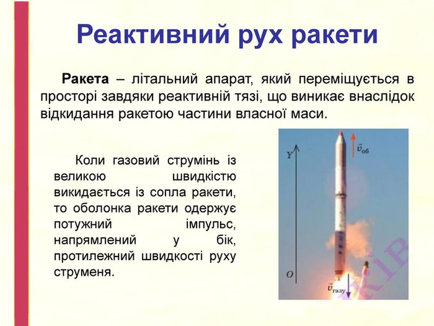 Реактивний рух ракети