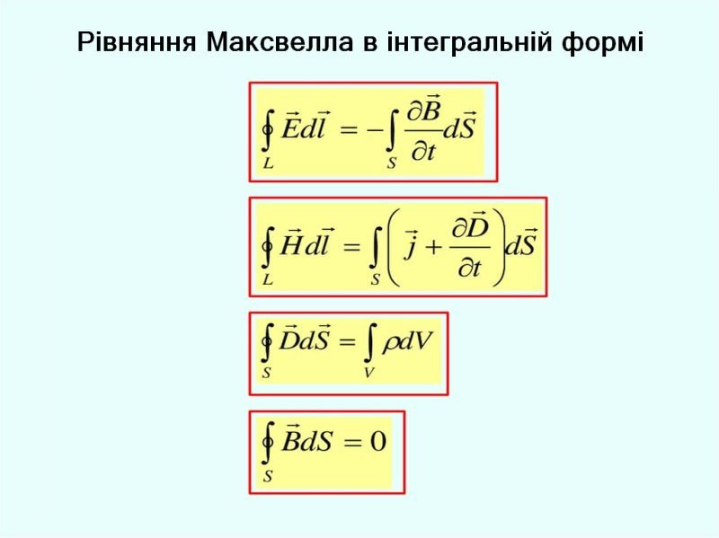 Рівняння Максвелла в інтегральній формі