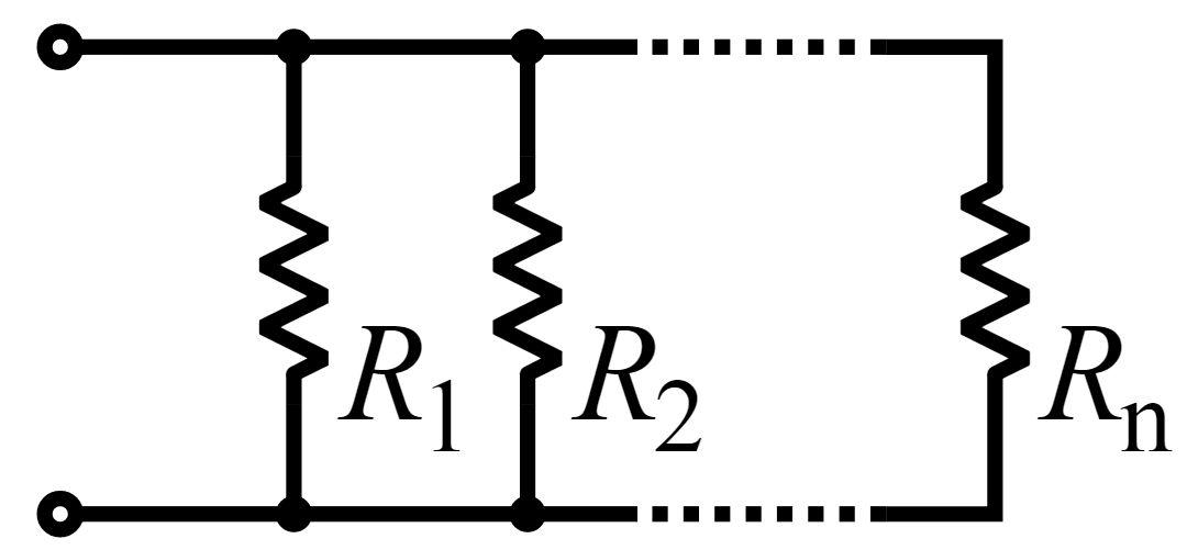 Схема паралельного з'єднання опорів