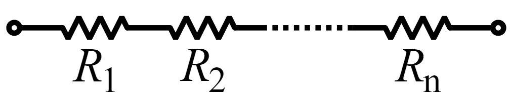 Схема послідовного з'єднання опорів
