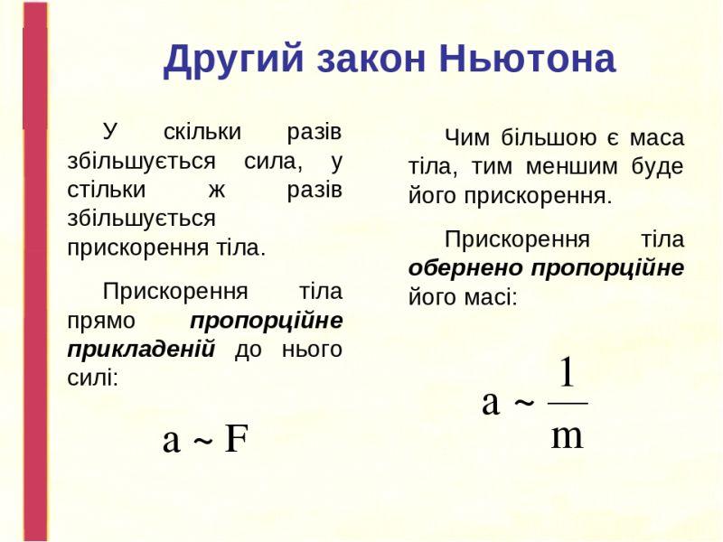 Другий закон Ньютона - визначення1