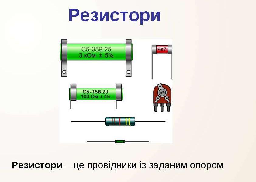 Резистори - визначення