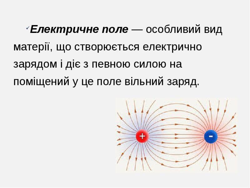 Електричне поле - визначення