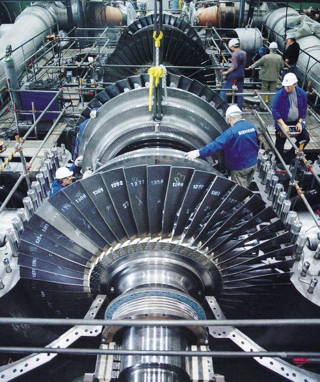 Монтаж ротора парової турбіни