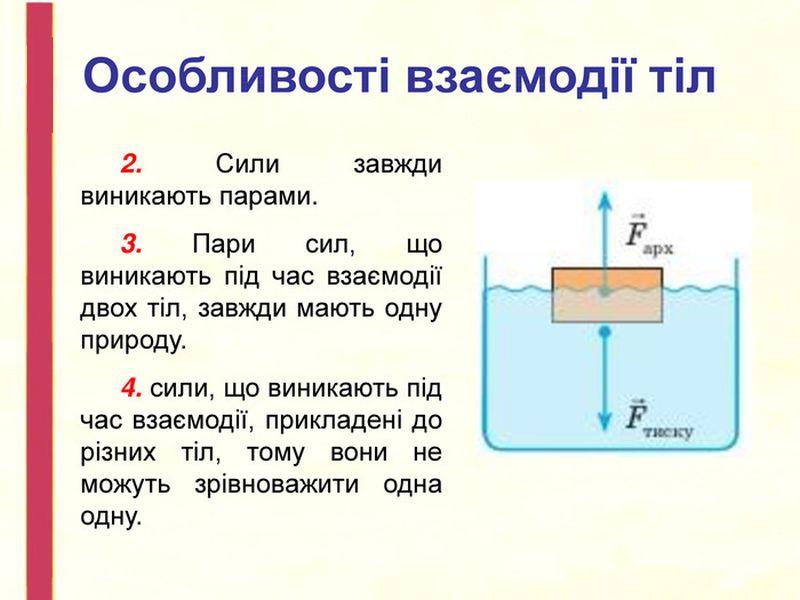 Особливості взаємодії тіл2