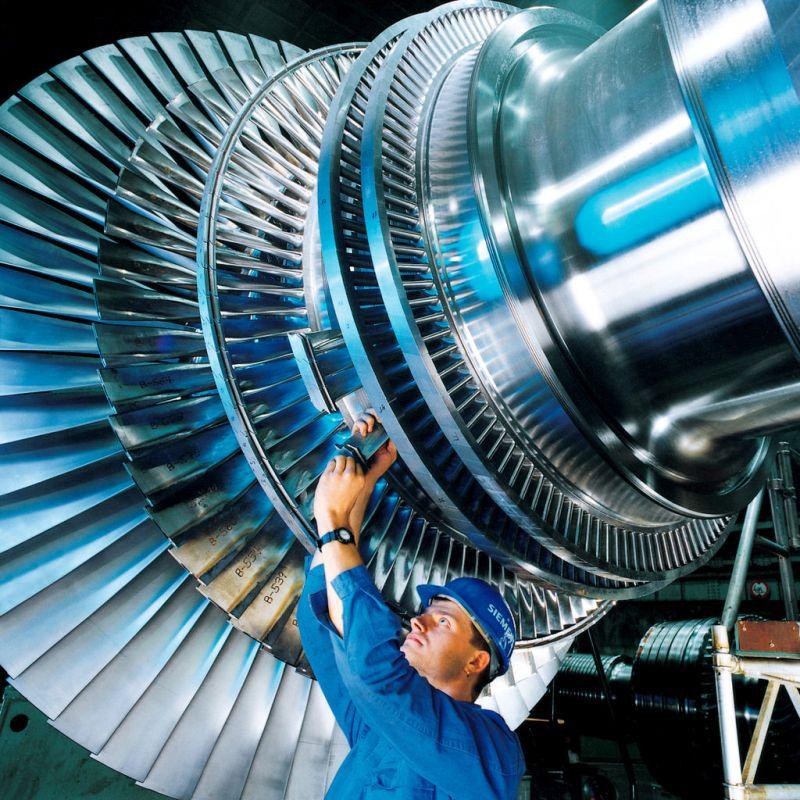 Ротор парової турбіни на ТЕС