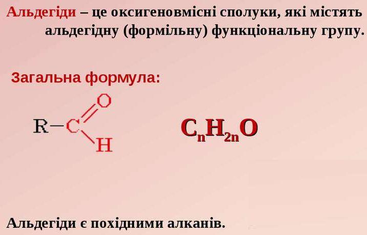 Альдегіди - визначення