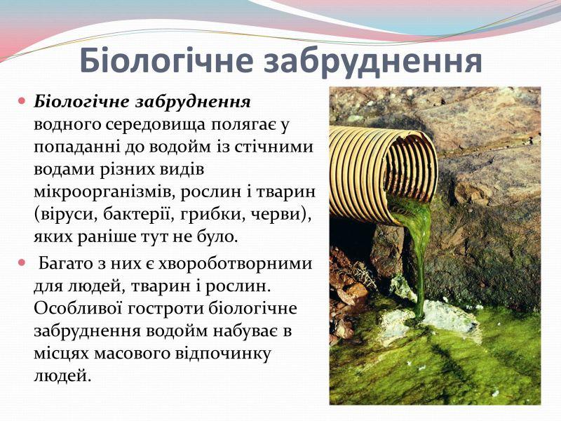 Біологічне забруднення води