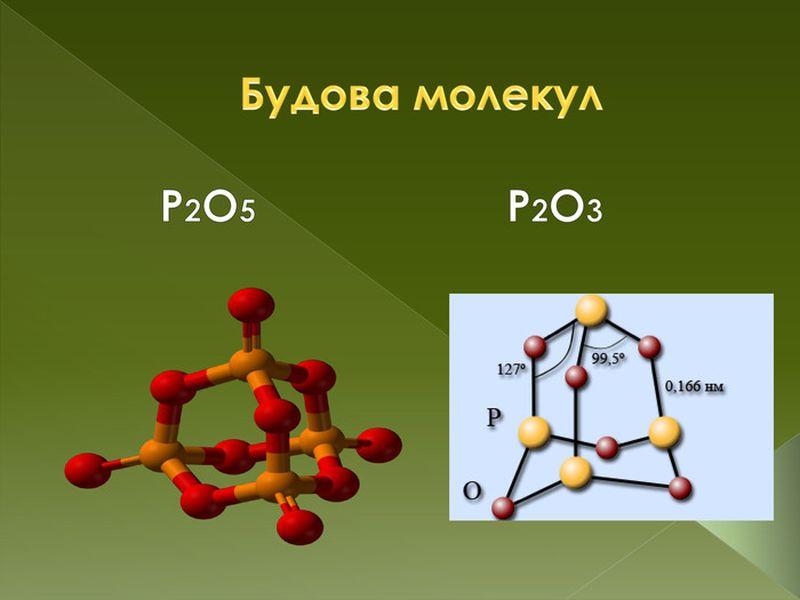 Будова молекули оксиду фосфору
