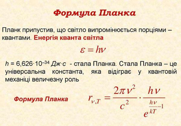 Формула планка - визначення