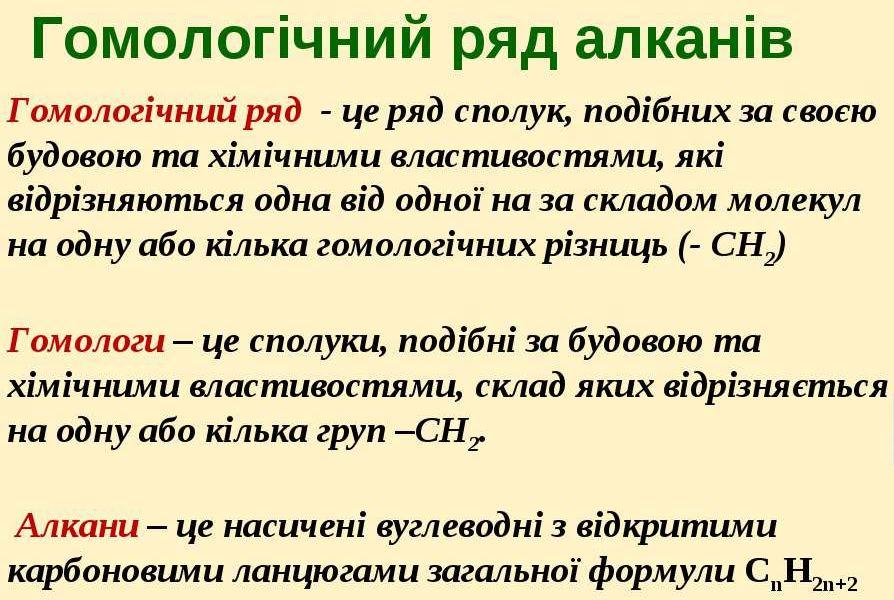 Гомологічний ряд - визначення