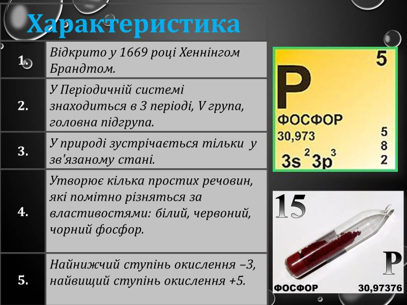 Характеристика фосфору