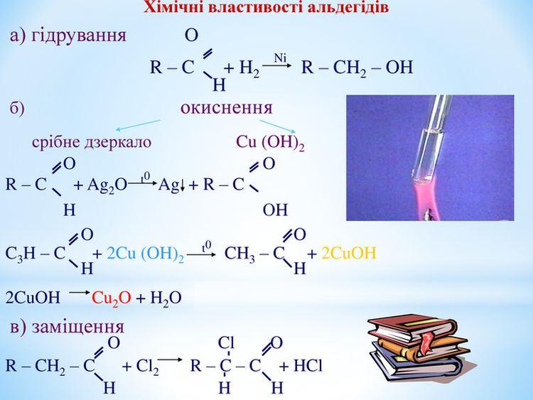 Хімічні властивості альдегідів