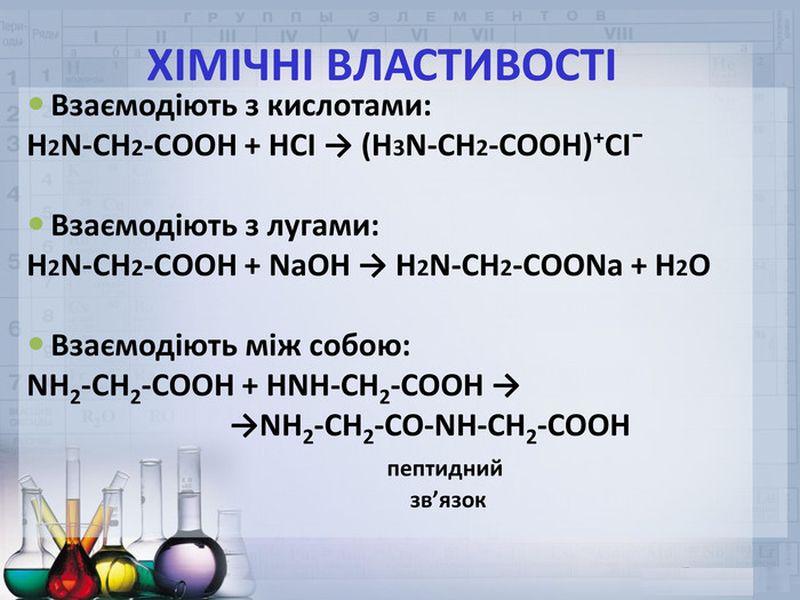 Хімічні властивості амінокислот