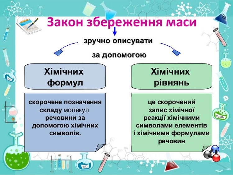 Опис закону збереження маси