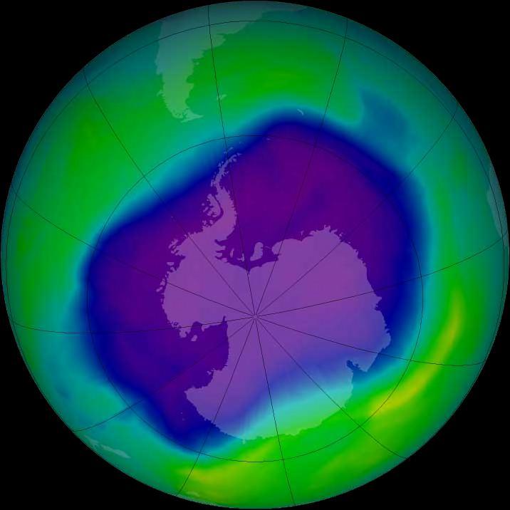 Озонова діра над Антарктидою 2006 рік