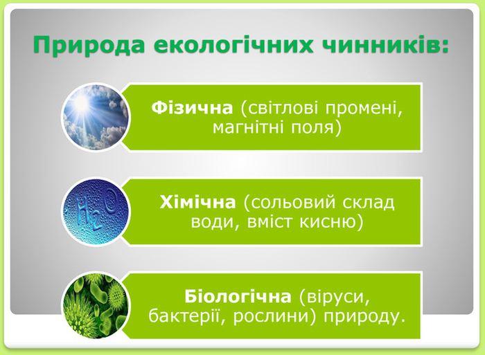 Природа екологічних чинників