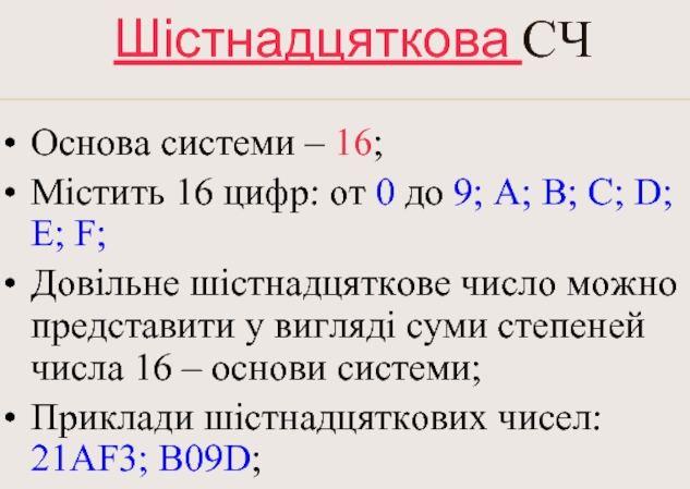 Шістнадцяткова система числення