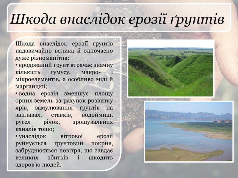 Шкода внаслідок ерозії ґрунтів