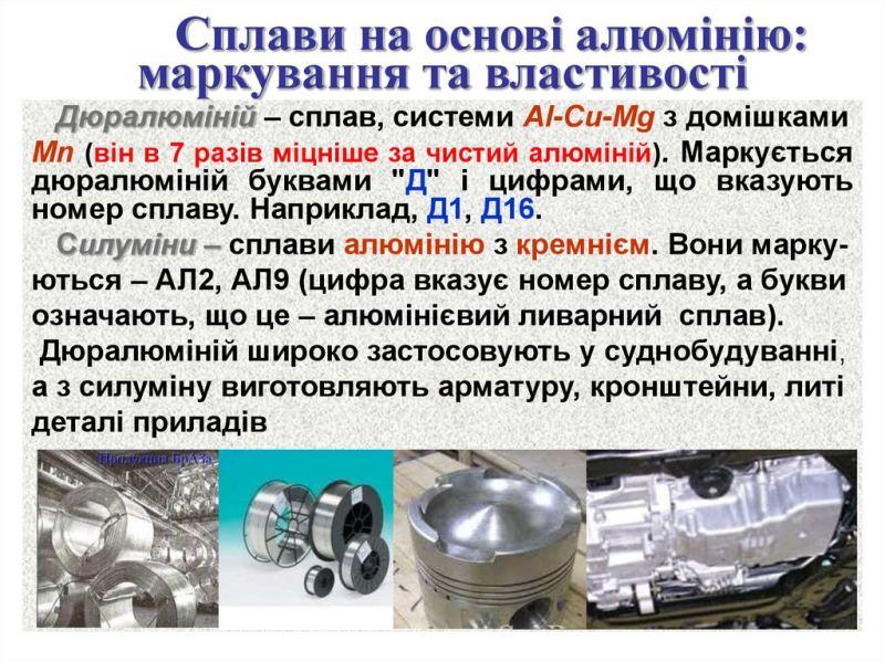 Сплави на основі алюмінію
