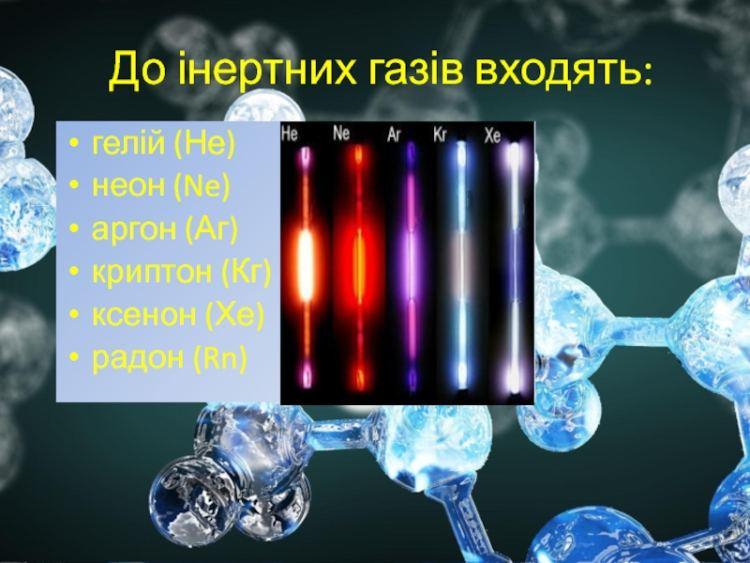 Список інетрних газів